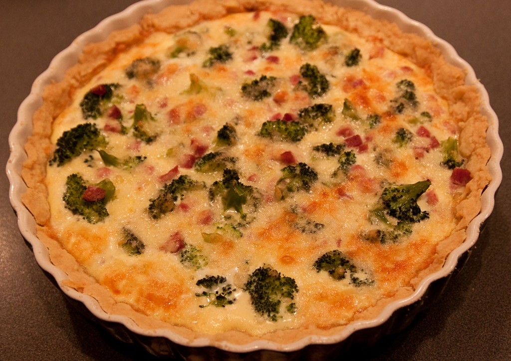 broccoli och skinkpaj
